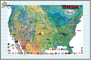 Raceways map